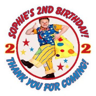 Personalised Mr Tumble Party Stickers